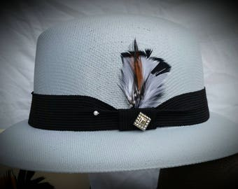 Classic Traditional Lt. GRAY FEDORA lowrider