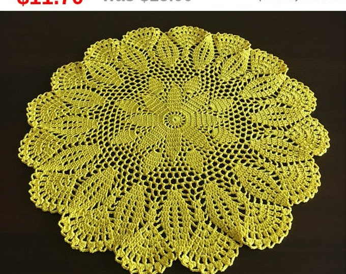 Rustic decor table decorations napkin table mat hand crocheted small doily crochet mat kitchen coasters kitchen accessory Doily crocheted.