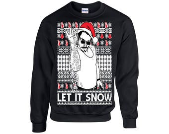 Let it Snow Salt Bae,  ugly christmas Sweater, Christmas party, Holiday gift, ** Expedited Shipping