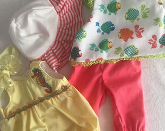 Two Fun In The Sun Outfits For American Girl Bitty Baby