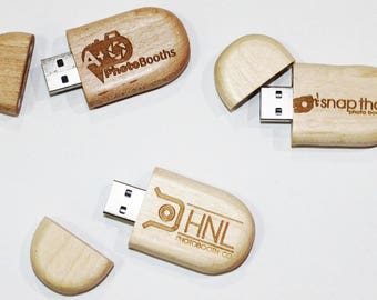 Personalized USB Flash Drive 8GB Oval