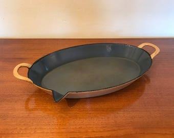 FE cast iron frying pan - Belgium - 40s - vintage - enamel - descoware