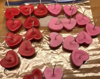 Red and Pink Heart Candles