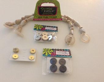 Acrylic Handbag Handles & Magnetic Snaps