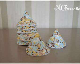 Pee Teepees-set of 8 cotton