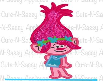 Troll pink 5x7 appliqué