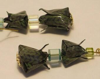 Origami Tulip earrings