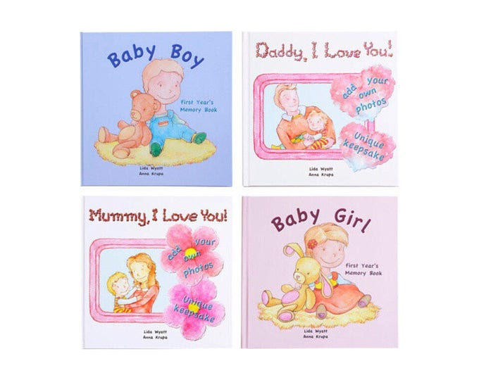 Keepsake books - Family Bundle -Choose from 3 Hair/Skin Colour Options