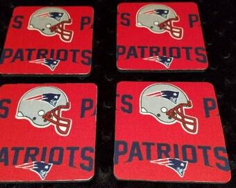 New England Patriots 4 Piece Coaster Set