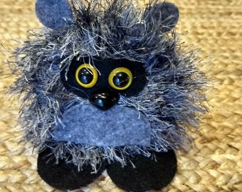 Woodland Raccoon, Cute kids or children's Toy, Handmade Felted Statue, Nursery Decoration, Raccoon Decorations, Animal Decor, Felted Animals