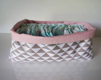 Reversible basket size XL cotton fabric