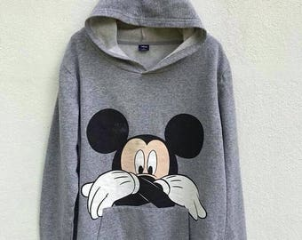 20% OFF Vintage Mickey Mouse Sweater Hoodie Walt Disney Sweater Mickey Mouse Women Sweater Cartoon Sweatshirt Anime shirt sz S