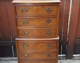 vintage drexel et cetera burlwood lingerie chest