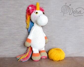 Crochet Unicorn Amigurumi - Handmade Crochet Toy Doll - Unicorn Crochet - Amigurumi Unicorn