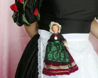 Vintage doll brooch
