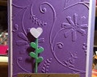 Anniversary Card Embossed