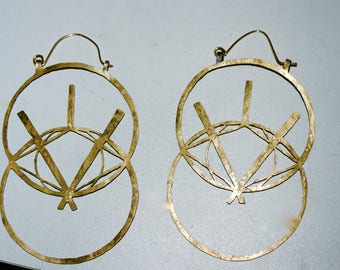 Geometric Brass 14k gold-filled Earrings