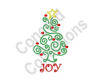 Joy - Machine Embroidery Design, Christmas - Machine Embroidery Design