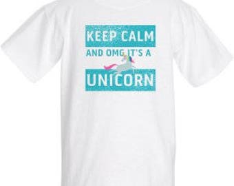 Keep Calm and OMG it's a unicorn shirt