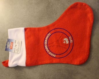 "Cute Christmas stocking ""PSG"""