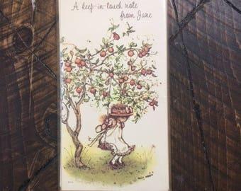 "Vintage Hollie Hobbie Personalized ""Jane"" Note Cards Stationery Paper Set American Greetings"