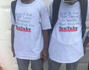 Kids YouTube Tee. YouTube. Kids. Kids tshirt.