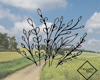 Leafy Garden Decal - Leaves decal -