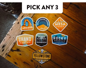 Pick Any 3 - National Park Stickers