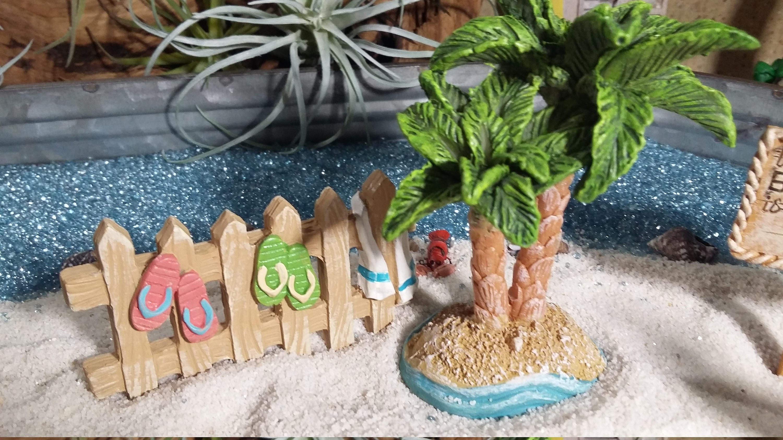 Fairy Garden Beach Themed Accessories, Miniature Surf Board, Beach .