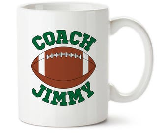Custom Football Coach, Gifts For Coaches, Personalized Coach Mug, Coach Coffee Cups, Thank You Coach, Football Coach Cups, Football