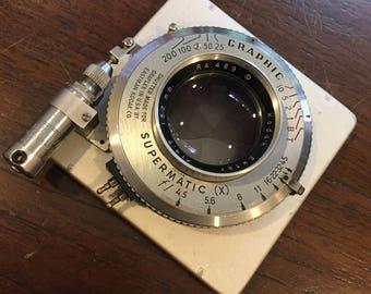Camera Lens Kodak Ektar 152mm f4.5  in Supermatic shutter