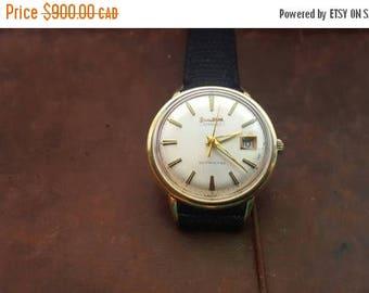 ON SALE Vintage 14k Gold Bulova Aerojet Watch
