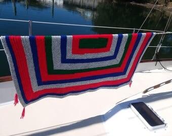 Crocheted Afghan Throw Blanket