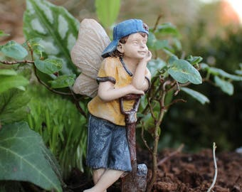 Fairy Gavin - miniature enchanted fairy garden