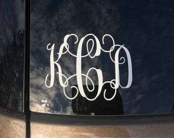 Monogrammed decal for indoor/outdoor use