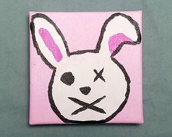 Borderlands Tiny Tina inspired bunny painting mini canvas FREE SHIPPING