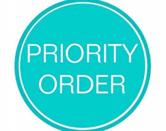 ADD ON - Prioritise your order for a quick turnaround time!