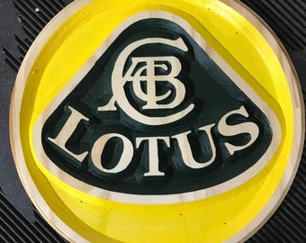 Lotus Carved Wooden Sign