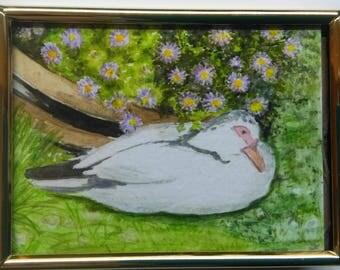 miniature painting ducks n daisies