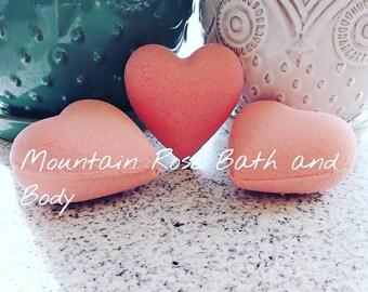 Pink Hearts Bath Bombs