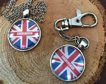 SHERLOCKED Sherlock Holmes Jewelry Book Lover Gift Necklace Pendant Keychain