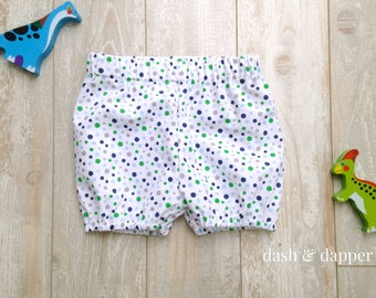 Baby Boy Cotton Shorties, Bubble Shorts, Bloomers, Diaper Cover, Shorts, Pajama Pants Shorts, Birthday Cake Smash, Sizes 3M thru 24M