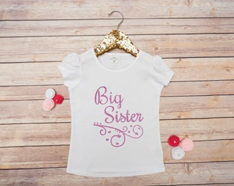 Big Sister Shirt, Little Sister Big Sister, Big Sis Little Sis, Baby Girl Shirt, I'm Going To Be A Big Sister, Big Sister Announcement