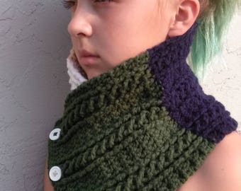 Color Block Cable Cowl
