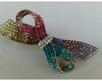 Hair Barrette in Pastel Crystals * FREE SHIPPING