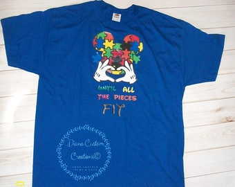 Disney Autism Awareness Support Love Shirt