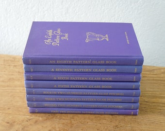 1-8 Pattern Glass Books Set 1 through 8  Minnie Watson Kamm 1970S Hard Cover Whole Set Complete
