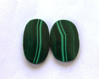 Natural Malachite cabochon,Green Malachite Pair gemstone,Malachite loose stone,Matching Pair Malachite loose gemstone for DIY Ring,Pendent,
