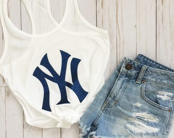 New York Yankees Tank•New York Yankees Shirt•New York Yankees Ladies•New York Women's Shirt•MLB•Baseball Tank•Yankees Tank