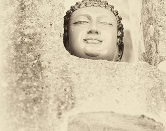 VIETNAM STORIES 12. Vietnam Prints, Sepia Tone, Travel Photography, Buddhism, Spiritual, Limited Edition, Photographic Print